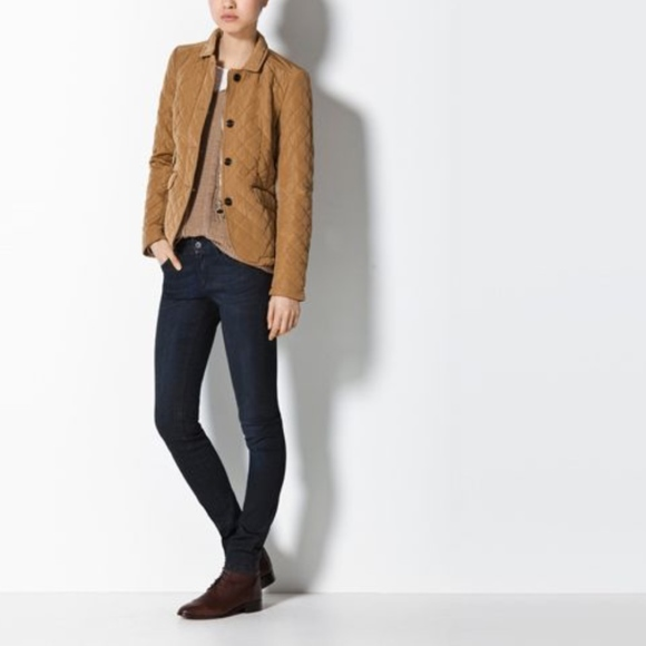 02d48b8adc Massimo Dutti Jackets & Coats | Quilted Jacket Beige Husky Blazer ...